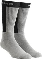 WKND Baseball Sock - heather/black