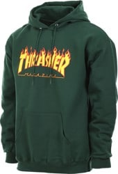Thrasher Flame Hoodie - forest green