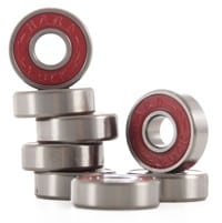Hard Luck Rough Times Skateboard Bearings - red