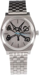 Nixon Time Teller Bones Watch - vato rat/silver