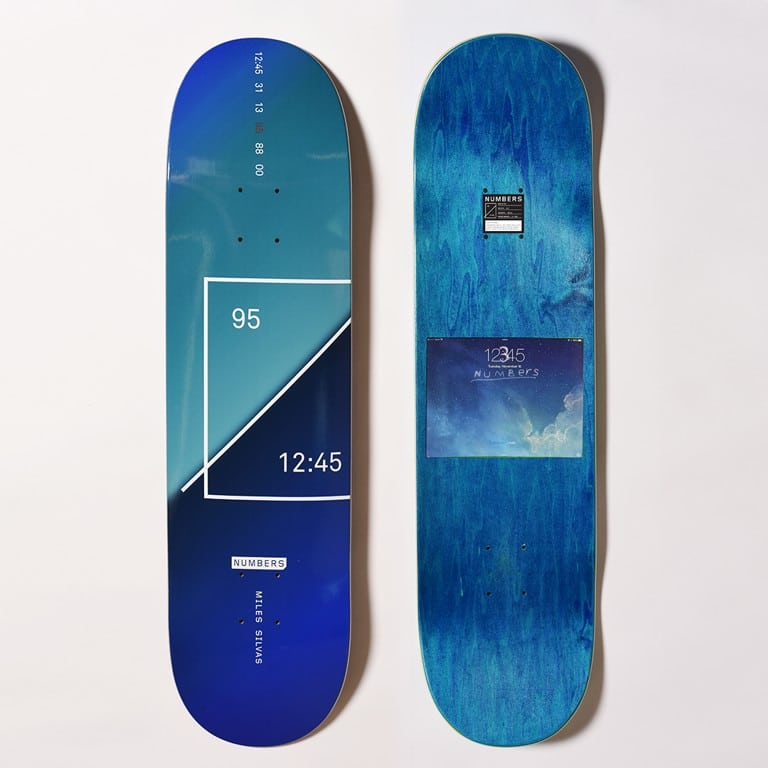 Numbers Edition Skateboards Est 12 45