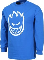 Spitfire Bighead L/S T-Shirt - royal/white