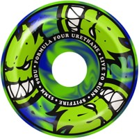 Spitfire Formula Four Conical Full Skateboard Wheels - green/blue swirl afterburners (99d)