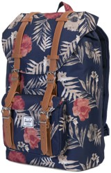Herschel Supply Little America Mid Volume Backpack - peacoat floria/tan