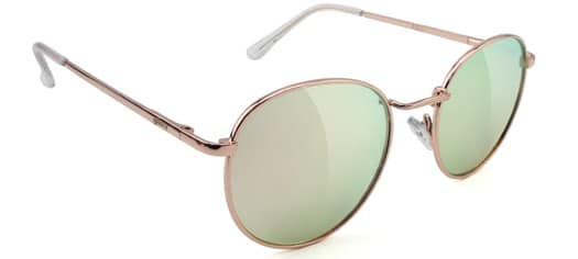 Glassy Ridley Sunglasses - rose gold/pink mirror lens - view large