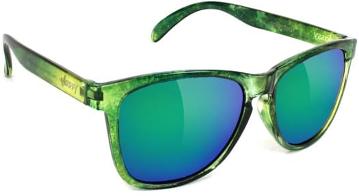 Glassy Deric Polarized Sunglasses - (jaws) green galaxy - view large