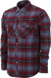 Brixton Bowery Flannel - navy plaid