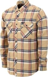 Brixton Bowery Flannel - tan plaid