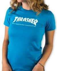 Thrasher Women's Skate Mag T-Shirt - teal