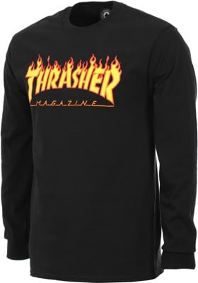 Thrasher Flame L/S T-Shirt - black - view large