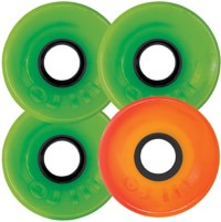 OJ Hot Juice Skateboard Wheels - 3 green 1 orange (78a)