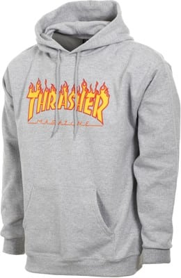 Thrasher Flame Hoodie - grey - view large