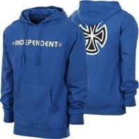 Independent Bar/Cross Hoodie - royal blue