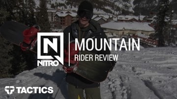 Nitro Mountain x VSSL 2018 Snowboard Rider Review