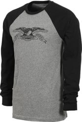 Anti-Hero Basic Eagle L/S T-Shirt - deep heather/black