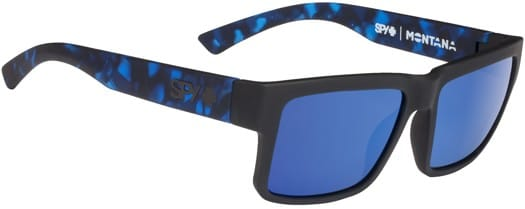 Spy Montana Sunglasses - matte black-navy tort/happy gray green/blue spectra lens - view large