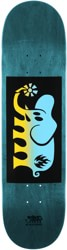 Black Label Elephant Fade Block Red 8.5 Skateboard Deck - teal