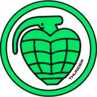 Thunder Trucks Circle Grenade Sticker - green