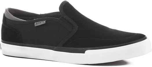 State Keys Slip-On Shoes - black/pewter suede - view large