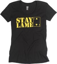 Lowcard Women's Stay Lame T-Shirt - black