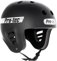 ProTec Full Cut Skate Helmet - matte rubber black/white logo