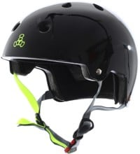 Triple Eight Brainsaver EPS Dual Certified Skate Helmet - black gloss/zest