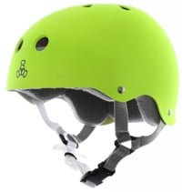 Triple Eight Brainsaver Multi-Impact Sweatsaver Skate Helmet - neon zest rubber