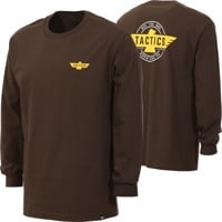 Tactics Heritage L/S T-Shirt - dark chocolate