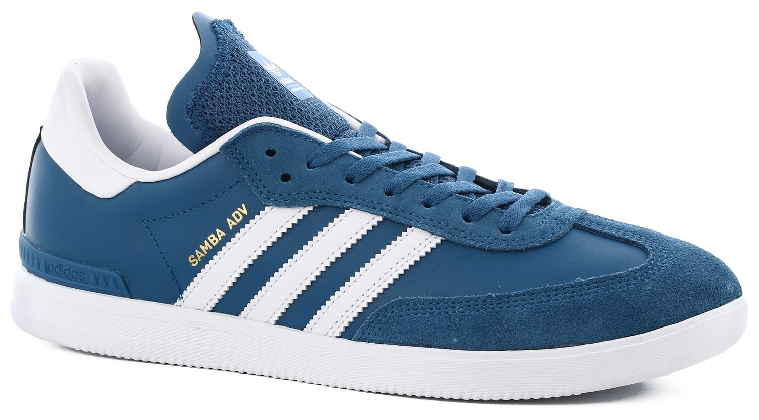 adidas samba adv skate shoes core blue footwear white. Black Bedroom Furniture Sets. Home Design Ideas