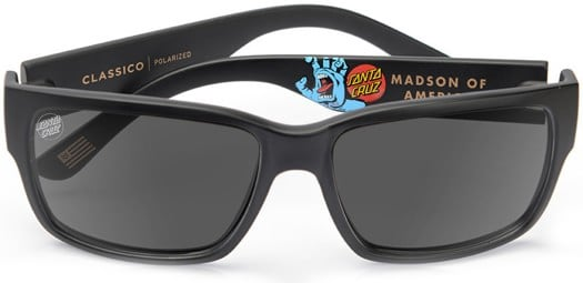 MADSON Classico Santa Cruz Polarized Sunglasses - screaming hand/grey polarized lens - view large