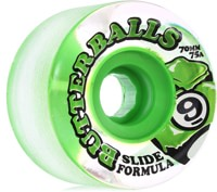 Sector 9 Butterball Slide Formula Longboard Wheels - clear/green core (75a)