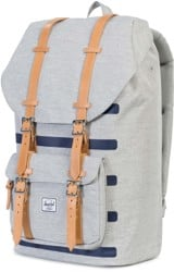 Herschel Supply Little America Backpack - light grey crosshatch stripe