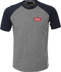Brixton Stith T-Shirt - heather grey/navy