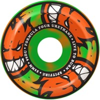 Spitfire Formula Four Conical Full Skateboard Wheels - orange/green swirl afterburners (99d)