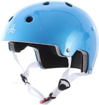 Triple Eight Brainsaver EPS Dual Certified Skate Helmet - metallic blue gloss