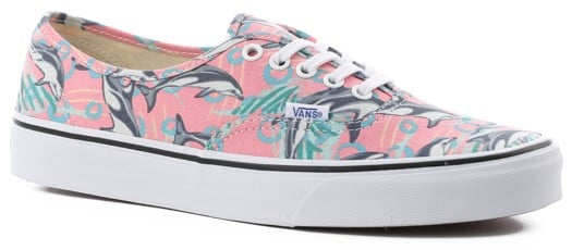 Vans Authentic Skate Shoes - (dolphins) desert flower - view large