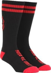 Spitfire Heads Up Sock - black/red