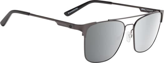 Spy Wingate Sunglasses - matte gunmetal/happy gray green-silver mirror lens - view large