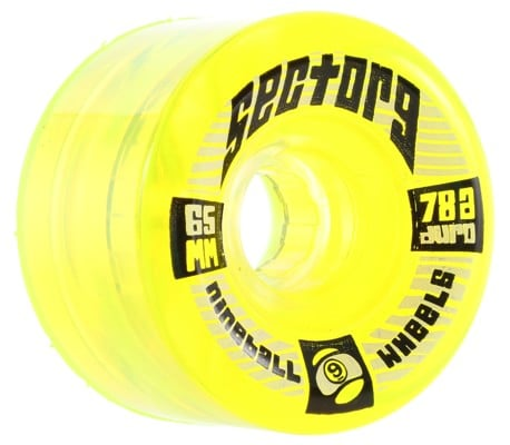 Sector 9 65mm Top Shelf Longboard Wheels - lime (78a) - view large
