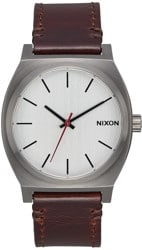 Nixon Time Teller Watch - gunmetal/silver/dark brown