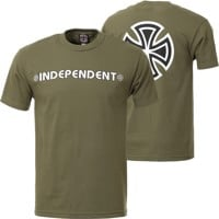 Independent Bar/Cross T-Shirt - military green