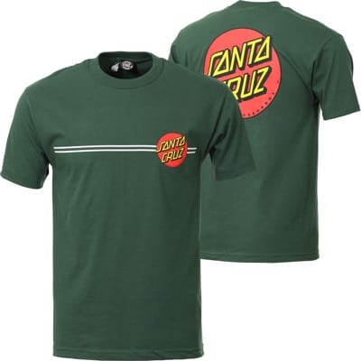Santa Cruz Classic Dot T-Shirt - forest green - view large