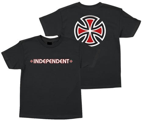 Independent Kids Bar/Cross T-Shirt - black - view large