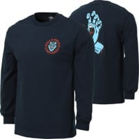 Santa Cruz Screaming Hand L/S T-Shirt - navy