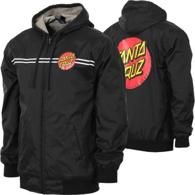 Santa Cruz Dot Hooded Windbreaker - black - view large