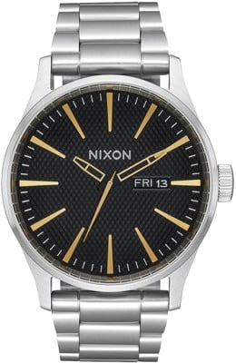 Nixon Sentry SS Watch - black stamped/gold - view large