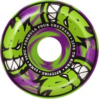Spitfire Formula Four Conical Full Skateboard Wheels - green/purple swirl afterburners (99d)