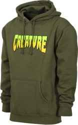 Creature Logo Hoodie - army green