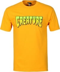 Creature Logo T-Shirt - gold