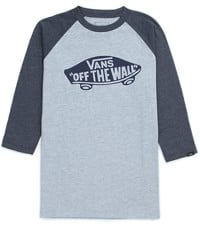 Vans OTW Raglan 3/4 Sleeve T-Shirt - heather grey/navy heather